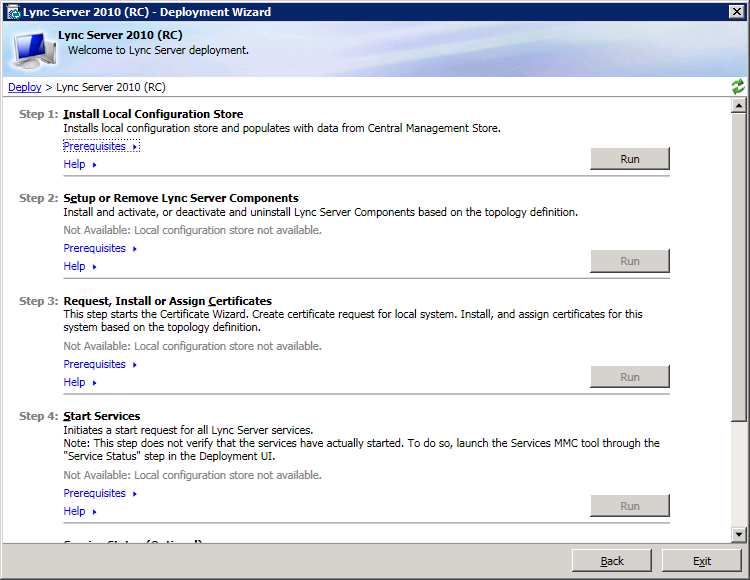 Step-by-step Microsoft Lync 2010 Consolidated Standard