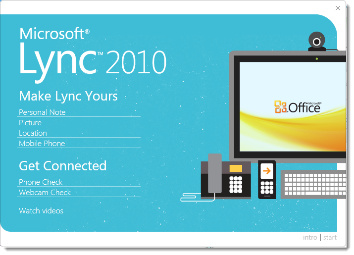 With the Lync 2010 client self-help materials are always close to ...