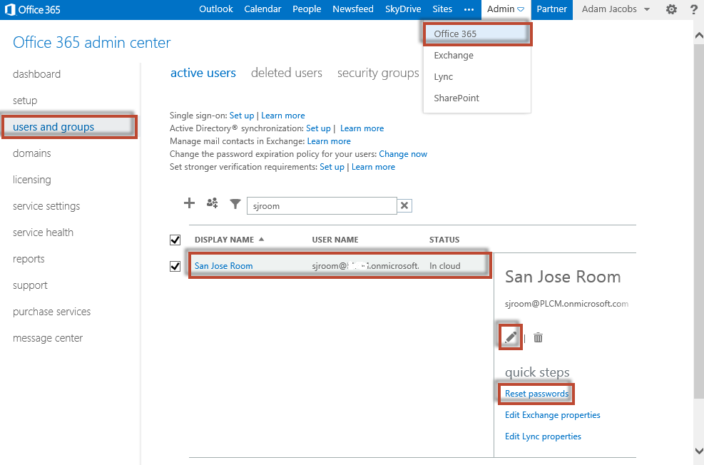 CX7000 and Room Mailboxes within Office 365 | I\'m a UC Blog